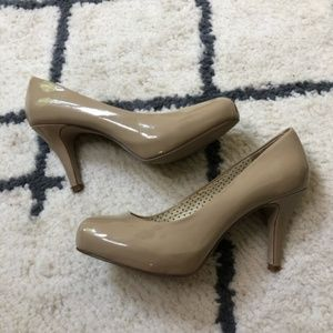 Madden girl nude patent leather 3 inch heels